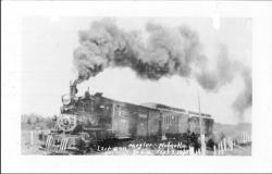 "Clamshell Railroad car ""Nahcotta"" on her last run, 1937"